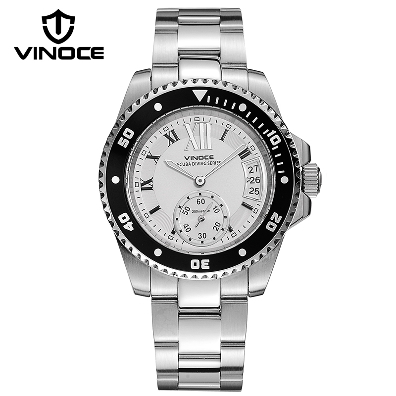 VINOCE Luxury Sports Luminous Quartz Watches For Men Top Brand Multifunction Calendar Reloj Hombre New 50M Waterproof Man Clock(China (Mainland))