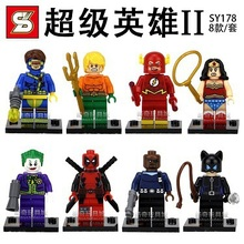 Wholesale 10Lot SY178 Building Blocks Super Heroes Flash Catwoman Clown Nick Fury Wonder woman Minifigures Bricks