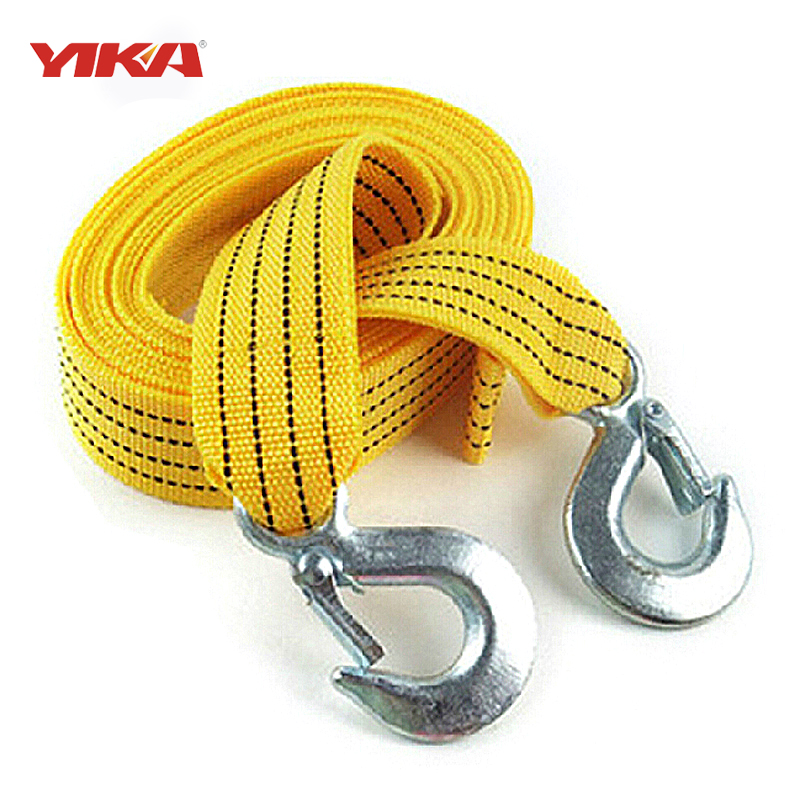 3M 3Tons Tow Cable Tow Strap Car Towing Rope With Hooks High Strength Nylon For Heavy Duty Car Emergency(China (Mainland))