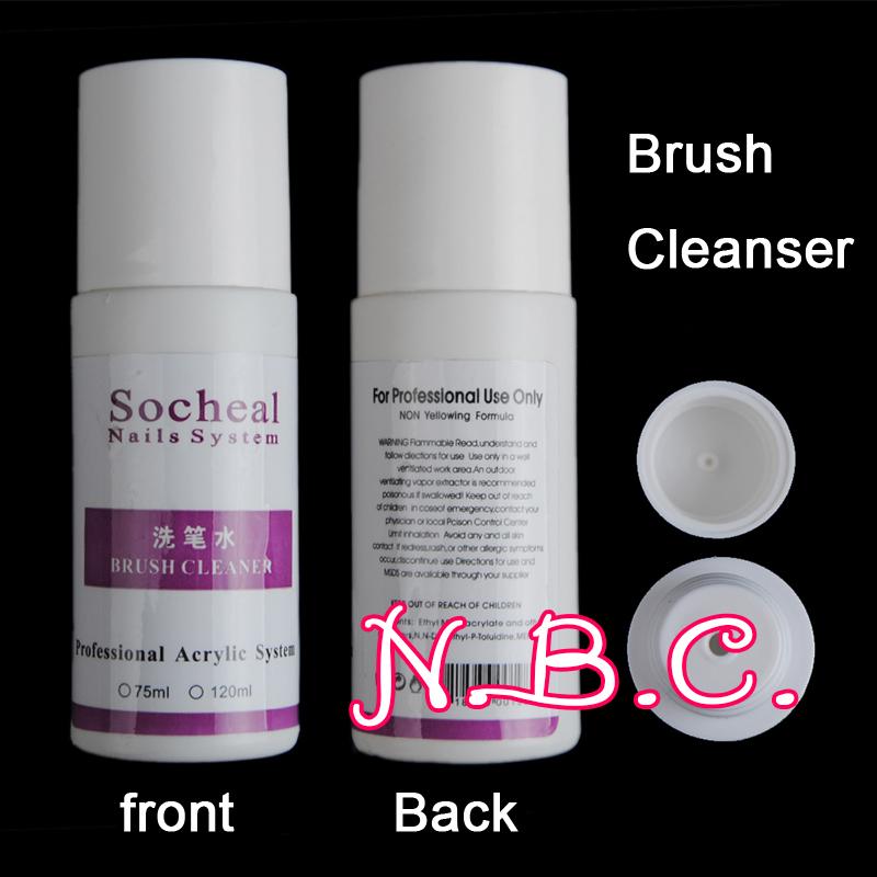 New 1pcs/lot Brush Cleanser Nail Builder UV Gel Polish Liquid Remover Acrylic Nail Art Tools(China (Mainland))