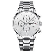 NIBOSI hommes montre chronographe Sport hommes montres haut de gamme de luxe étanche plein acier Quartz or horloge hommes Relogio Masculino(China)