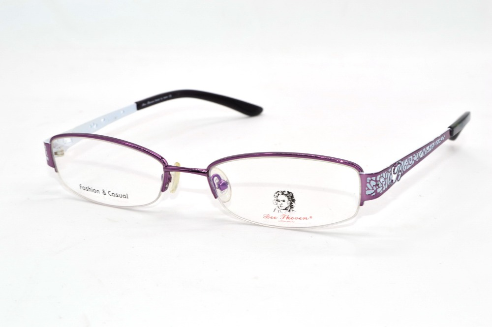 fashion purple chinese paper cut temple ladies glasses frame custom made prescription short sighted glasses photochromic 1 to 8