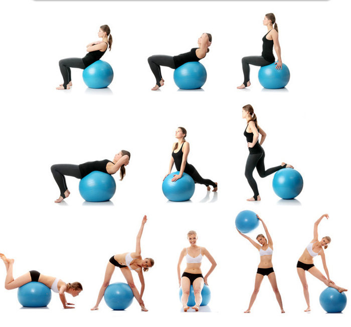75cm yoga ball swiss aerobic fitness gym exercise core sport with foot pump ebay. Black Bedroom Furniture Sets. Home Design Ideas