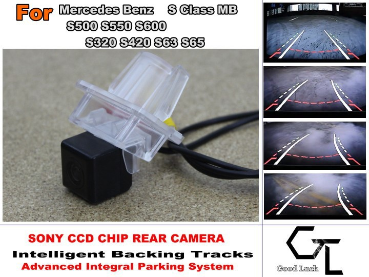 For Mercedes Benz S Class MB S500 S550 S600 S320 S420 S63 S65 Car Reverse Rear Camera with Parking Assistance Tracks Module<br><br>Aliexpress