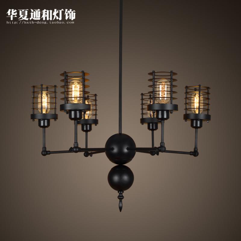 Modern minimalist dining room lamp Iron Chandelier Office of American art creative personality telescopic spider Pendant(China (Mainland))