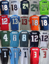 1 cam newton 3 jameis winston 4 brett favre 12 tom brady 13 odell beckham jr 18 peyton manning jerseys 24 marshawn lynch jersey(China (Mainland))