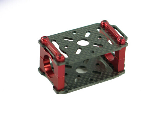 4pc/lot 3K Carbon Fiber Dual Layer Motor Mount Holder for RC 16mm Arm Multicopters Use<br><br>Aliexpress