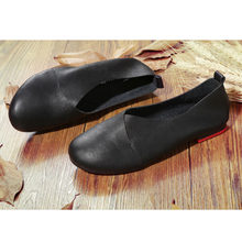 2018 zapatos planos de cuero genuino mujer mocasines de cuero cosido a mano Cuero Flexible primavera zapatos casuales mujeres pisos zapatos de mujer(China)