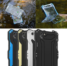 R-JUST Gundam 100% Waterproof Metal Aluminum Gorilla Glass Case For iPhone6 /6 Plus