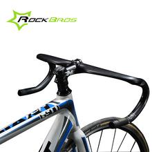 ROCKBROS Cycling Road Bike Handlebar Bent Bar Ultralight Carbon Fiber Bicycle Handlebar 31.8mm*400/420/440 Ultra-light Black(China (Mainland))