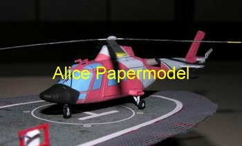[Alice papermodel] Long 50CM 1:33 Augusta 109 rescue helicopter Gunship airplane aircraft warplane models