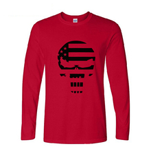 2016 autumn long sleeve Fashion American Sniper Chris Kyle Men T Shirt Punisher Skull Navy Seal Team Top Tee Casual T shirts(China (Mainland))