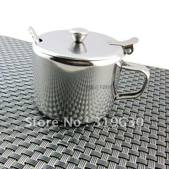 Stainless steel castor seasoning box condiment bottles of 3 taste suit kitchen supplies