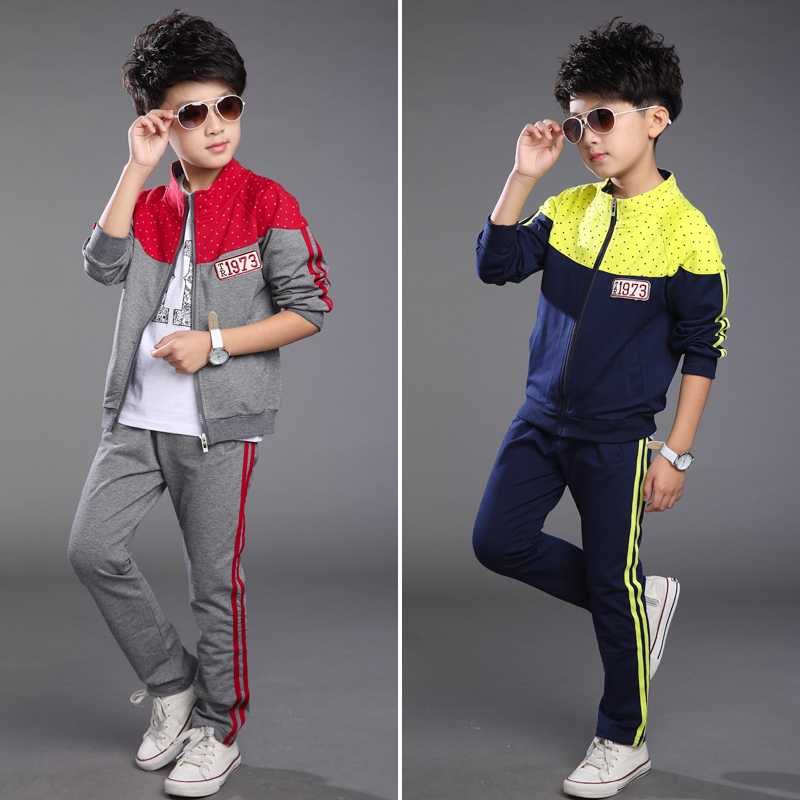 Free shipping Set 2015 Chinese Children Spring Models Sweater Two Piece Children Sportswear Leisure Suit. 63(China (Mainland))