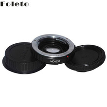 Buy MD-EOS Mount Adapter Ring Minolta MD MC glass Lens CANON EOS 60D 650D 7D 600D T4 T3 camera LENS CAP for $18.19 in AliExpress store