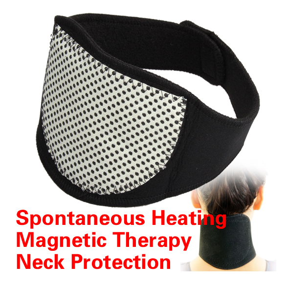 Magnetic Therapy Neck Spontaneous Heating Headache Belt Neck Massager HB88(China (Mainland))