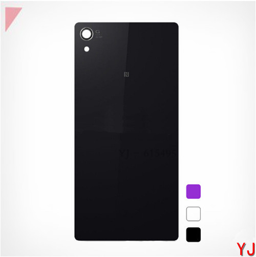 Original New For Sony xperia Z2 Back Glass L50W D6503 Original rear Back Glass Cover Housing Z2 Battery Cover Housing(China (Mainland))