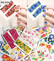 50pcs lot Flowers Water Transfer Nail Stickers Nail Decals DIY Watermark Manicure Tools Wholesale Full Nail