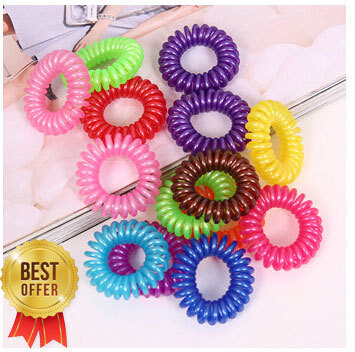 10pcs/lot Telephone Wire Line Cord Invisi Bobble Traceless Hair Ring Gum Colored Elastic Hair Band For Girl Hair Scrunchy(China (Mainland))