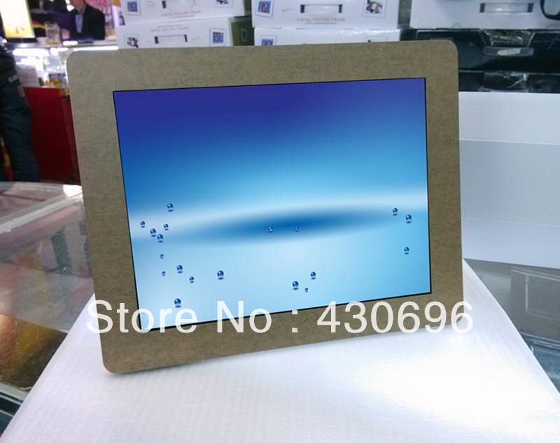 Free shiping 12 inch digital photo frame/electronic photo album/photo frame/MP3 play video/fashion home postage digital frame<br><br>Aliexpress