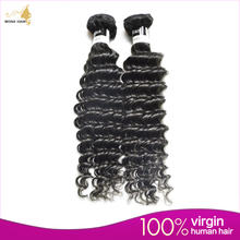 Hot Sale Indian Virgin Hair 7A Grade Tight Curls Virgin Hair 100% Unprocessed Deep curly Rosa Hair Skin Weft Extensions(China (Mainland))