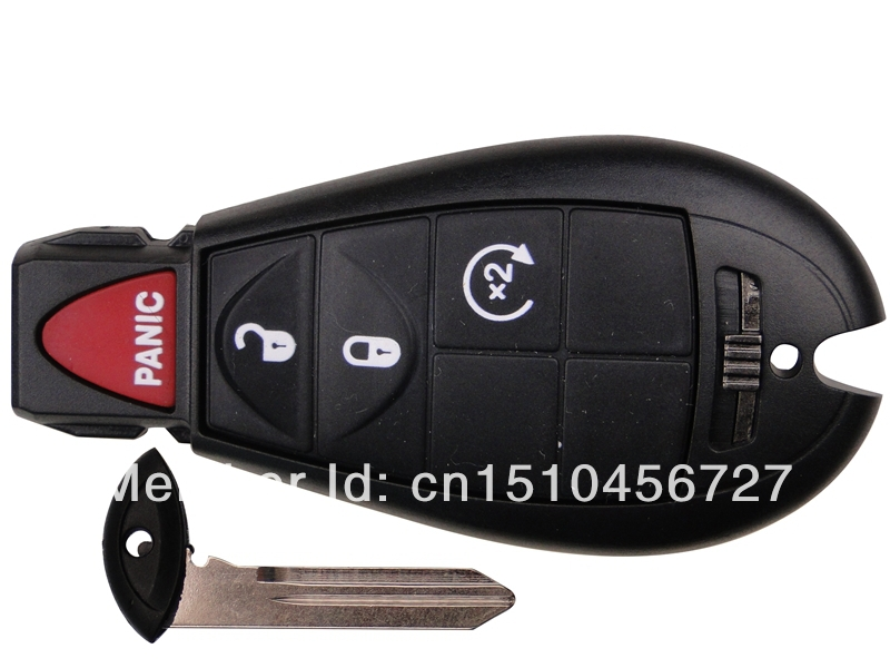 Free shipping black remote car key for Chrysler 300 with 4 buttons(lock,unlock,remote start) and panic)(China (Mainland))