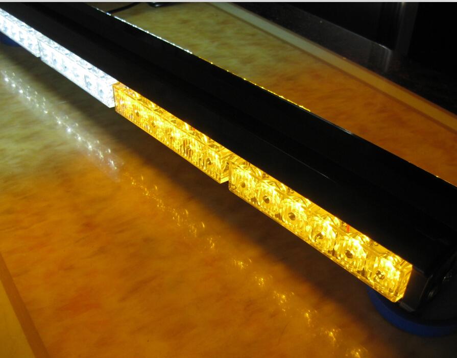 Double Side 6*14/84 LED car roof flashing amber white Emergency beacon Strobe 252W Light bar Lamp Warning 84led lightbar 12/24V(China (Mainland))