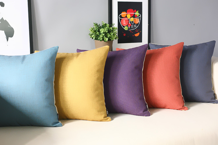 Pure retro Yellow Blue Purple Red Pillow s color Pillow Cushion Modern Pillow home decoration sofa