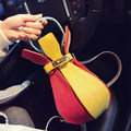 Trendy Chic 2016 New Fashion Colorful Rucksack Twist Lock Novel Bottle shaped Embossing Hand Bag Women