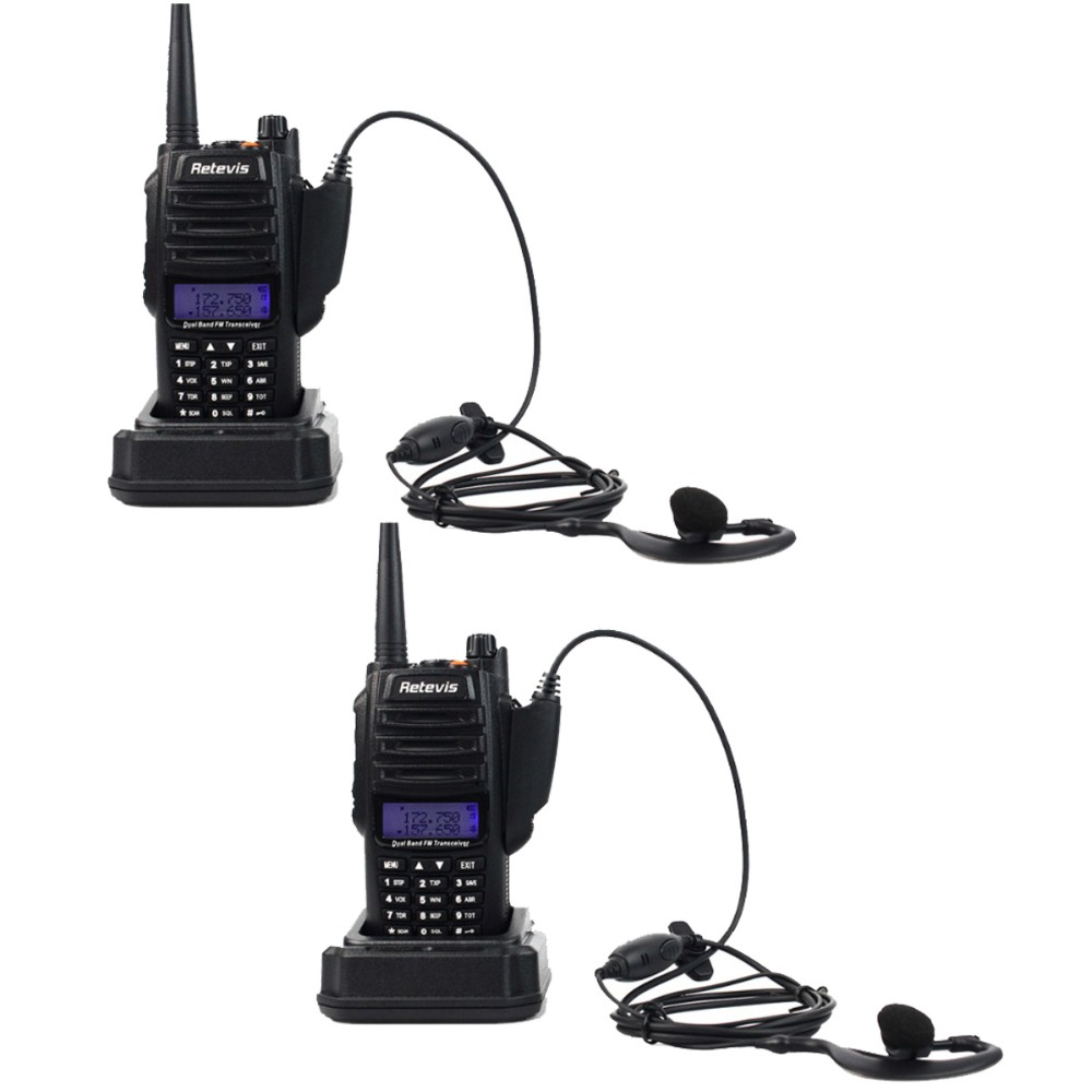 2pcs Retevis RT6 IP67 Waterproof Walkie Talkie 5/3/1W VHF+UHF 136-174+400-520Mhz Ham Radio Hf Transceiver Two Way Radio A9114A(China (Mainland))