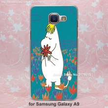 lovely moomin red flower design transparent clear hard Cover Case Samsung Galaxy a3 a5 a7 a8 a9 - Jomic store