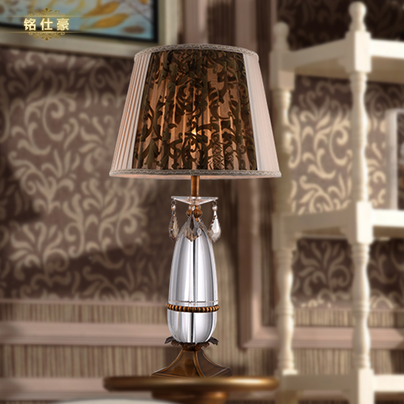 iron table lamp bedroom crystal table lamp d450 650mm