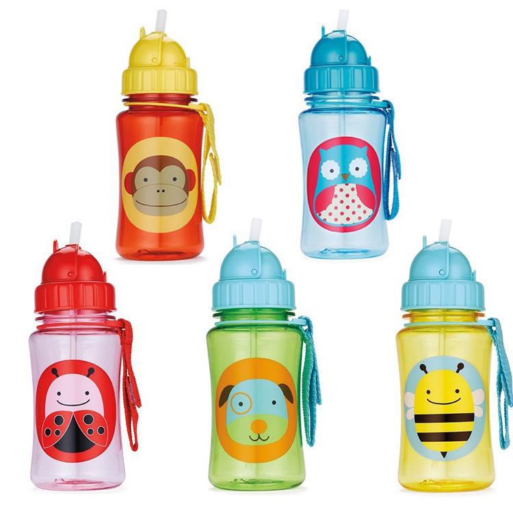 Практическая зоопарк бутылочки дети солома кубок бидончик сиппи чашки