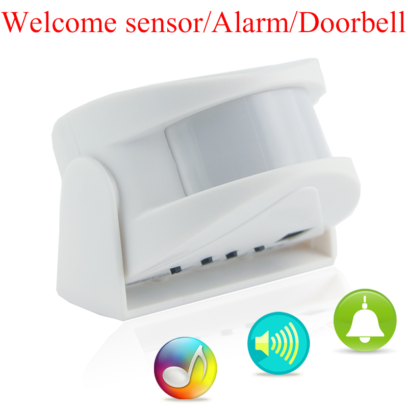 New Wireless Door Bell Guest Welcome Alarm Music Switch PIR Motion Sensor Shop Home Hotel Entry Doorbell Alarm Infrared Detector(China (Mainland))