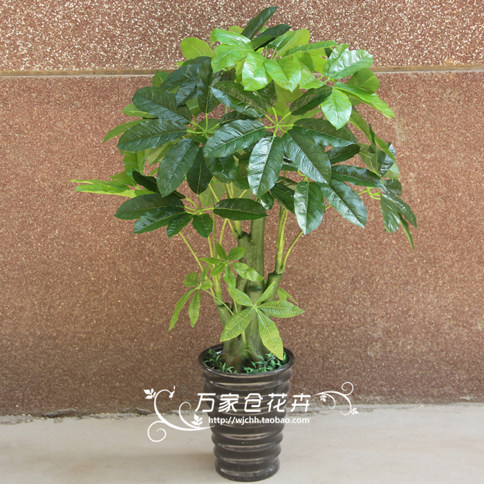 Artificial flower home decoration bonsai artificial tree plastic flower glue 1 meters large lucky