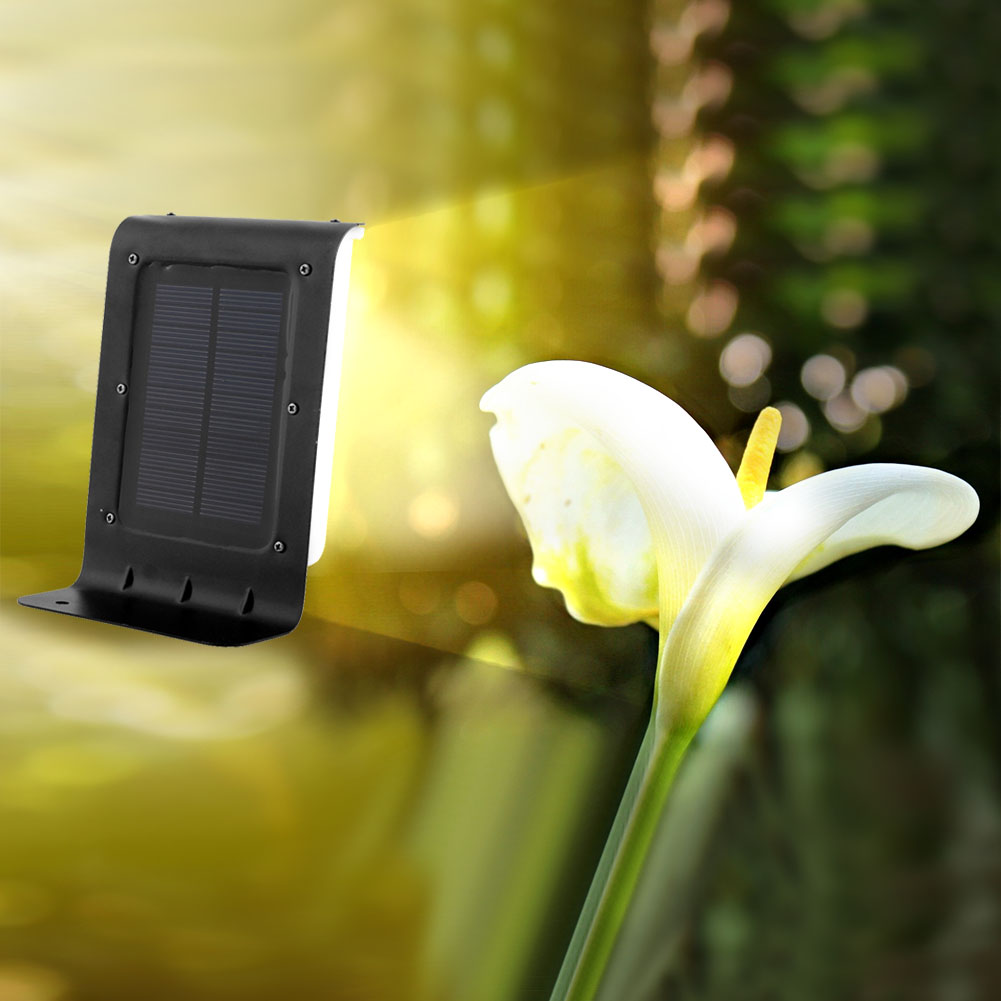 16LED Saving Solar Power Efficient Wireless Motion Sensor Induction Black Yaed Outdoor Security Light Wall Waterproof