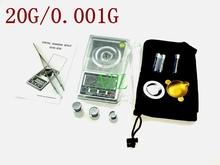 100% Original luz de fondo blanca 0.001 g 20 g bolsillo escala de la joyería de la gema oro joyería Diamond Digital envío gratuito