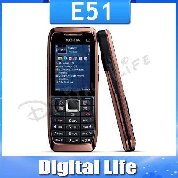 Original Nokia E51 Mobile Phones WIFI Bluetooth JAVA Unlock Cell Phone Free Shipping In Stock!!!(China (Mainland))