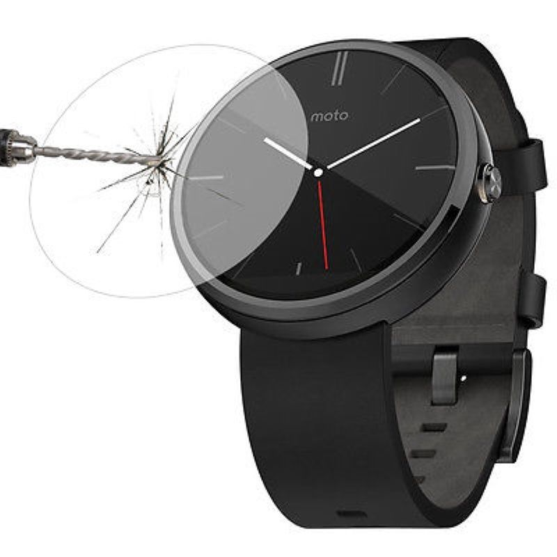 Montre connecter Reloj Premium Glass Film Tempered Glass Screen Protector for Smart watch Moto 360Top Reloj(China (Mainland))