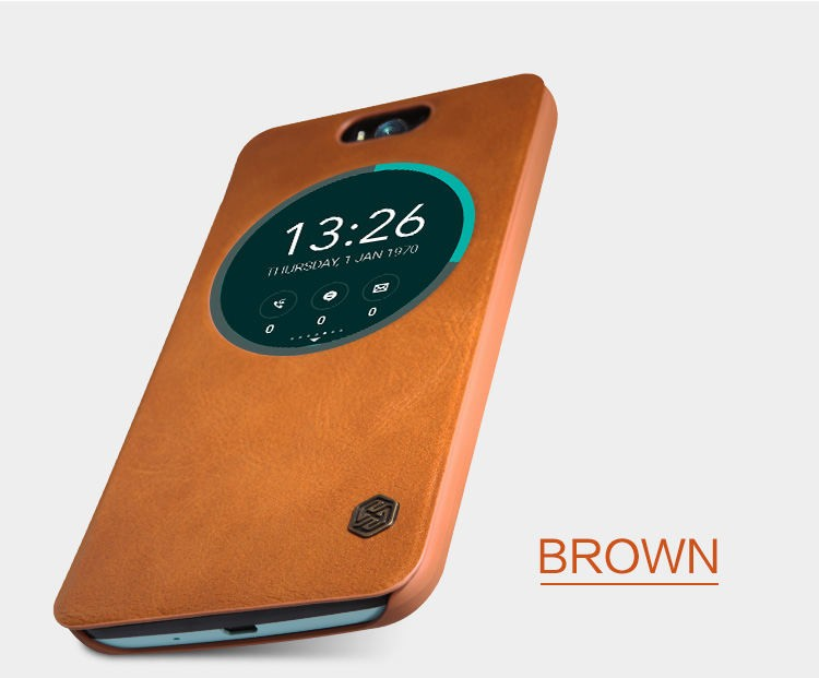 Nillkin Genuine Wallet Leather Case cover For Asus Zenfone Selfie ZD551KL 5.5 phone bags cases for asus zd551kl + film protector