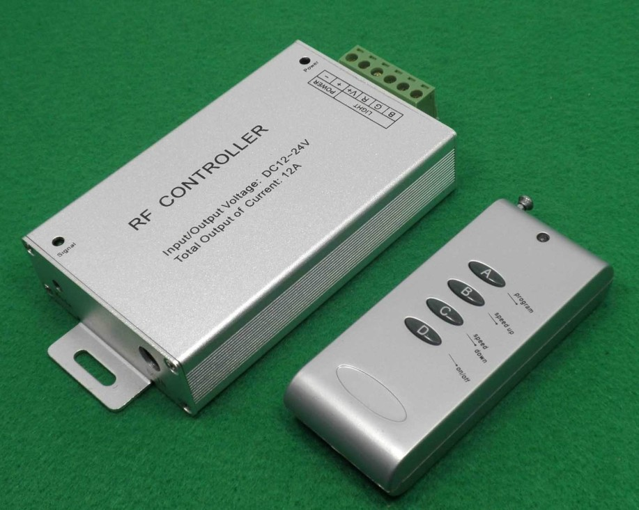 Mail Free + 1 PC RF 4 Key 12A LED RGB Contrller Wireless Remote Controller(China (Mainland))