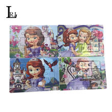 Cute Cartoon Sofia Pattern Jigsaw Cardboard Paper 3D Puzzles Kids Baby Toys For Children 1-7 Aged Education And Learning(China (Mainland))