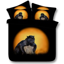 Moon Animal Black Panthers Comforter Bedding sets Panther duvet cover set bed sheet bedspread Cal King queen size full twin 5PCS(China (Mainland))