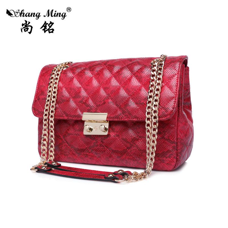 Shang Ming Brand Bag Women Satchels bag Patent Leather Tote Bag Female Serpentine Pattern Shoulder Bags Elegant Handbags(China (Mainland))