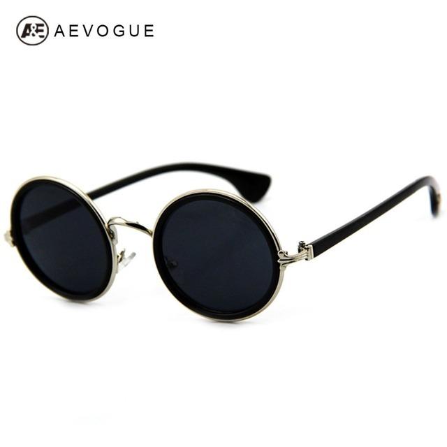 Aevogue старинные круглые дизайнер солнцезащитные очки унисекс металлический каркас солнечные очки тавра женщины gafas óculos де золь UV400 DT0254