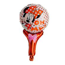 Минни мультфильм ручной воздушный шар Фольги Шары Минни печатных ручной воздушный шар игрушки для Малыша Подарок партия макет