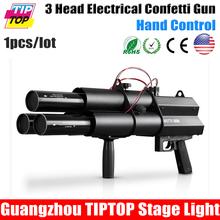 3 Heads Confetti Gun / FX Celebrations,Weddings,Openings Professional DJ Stage Effect Machine - Guangzhou TIPTOP Lighting Corporation limited store