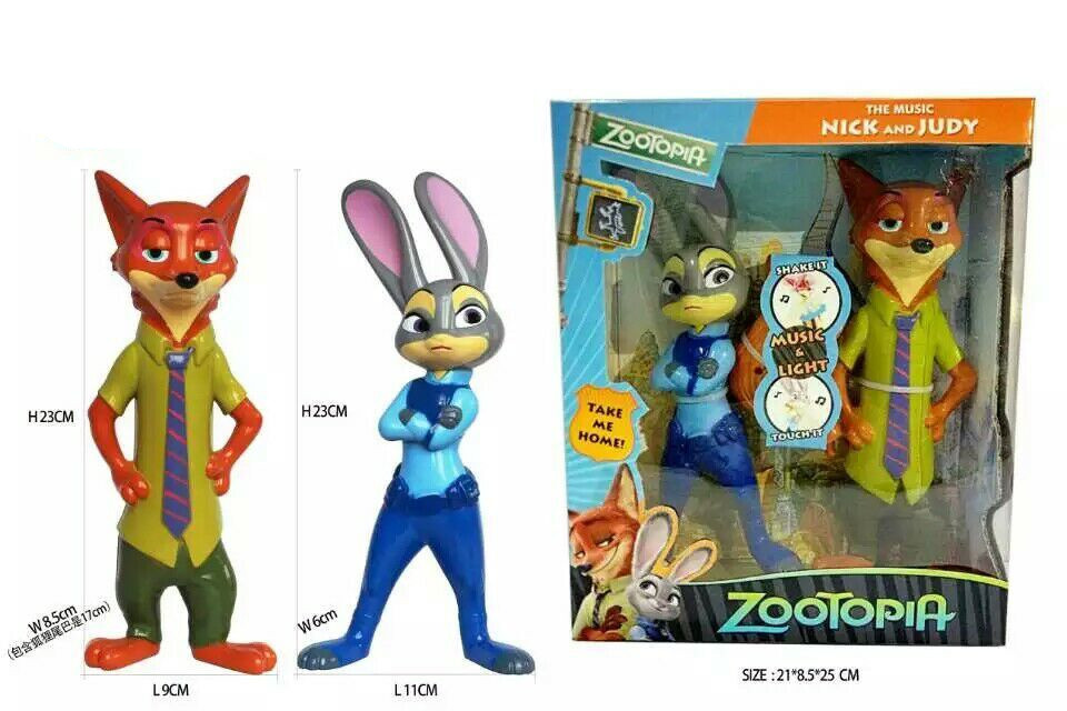 2016 The electric Zootopia Animals Action Figure Toys Rabbit Judy Hopps Fox Nick Wilde Movie Kids Gift Collection Figures(China (Mainland))