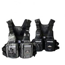 High Quality Famous Brand Korea Bluefish Vests Men Professional Fishing Life Vest Outdoor Safety Pockets Jackets Size Adjustable(China (Mainland))