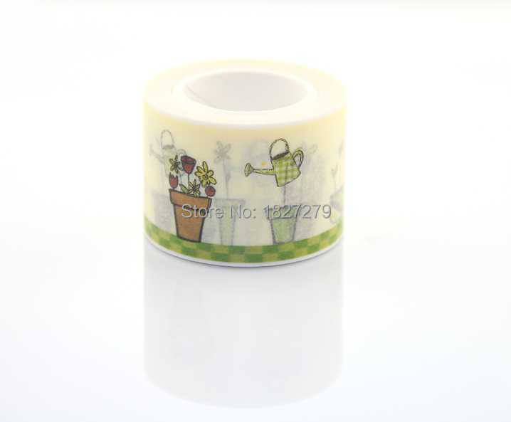 TOP Best Selling 3cm*10m Decorative Adhesive Paper Tape and Flower Designs Japanese Washi Tape Wholesale(China (Mainland))